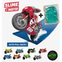 Moto Hot Wheels Mas Slime Coleccionable En Bolsa Ctpahwb03