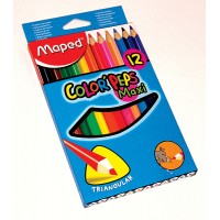 Lapices Color X12 Maxi/triang/color Peps/maped 834010
