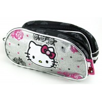 Canopla  Hello Kitty  2 Cierres Mk8098  Estamp/flores/brillos