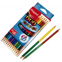 Lapiz Bicolor Colorpeps Duo Largo X 1224 Colores Maped 829600