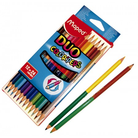 Lápiz Bicolor Colorpeps Duo Largo X 1224 Colores Maped 829600