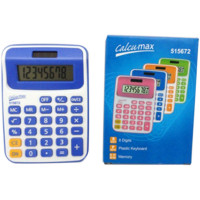Calculadora  8 X 12cm Calcumax  8 Digitos 515672  Color