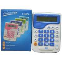 Calculadora  11 X 15 Cm Calcumax  12 Digitos Visor Gde 515674 Color