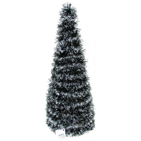 Arbol Navideño 50 Cm  Lameta Bicolor  Nevado  Mp6627