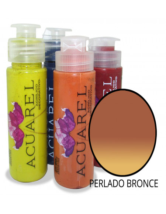 Acrílico Decorativo  Acuarel Perlado Bronce  0060adp40