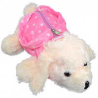 Cartera Peluche  Forma Perrito Lunares 3 Colores Mp6996