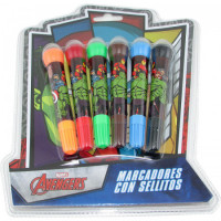 Bowl  Pen X 6 Colores Avengers/sp263 Blister