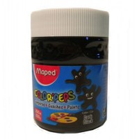 Tempera Pote 250gr Negro Oscuro  Colorpeps  826615