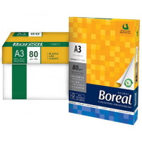 Resma Boreal A3 297x 420mm  80grs. 500hojas Extra Blanco 97025