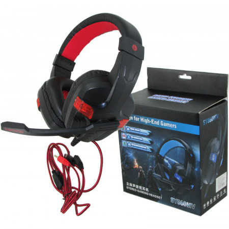 Auricular Gamers Sy860mv Con Luces Y Cable Reforzado Mp7187