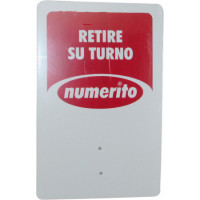 Cartel Retire Su Turno  Numerito 244