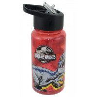 Botella De Plástico 500 Ml Straw Top Jurassic 01jurass061