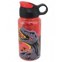 Botella De Plástico 500 Ml Flip Top Jurassic 01jurass060