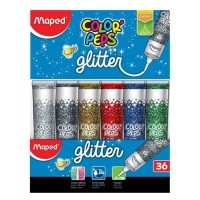 Adhesivo C/ Glitter Maped Celeste  50ml Peps Color 812052