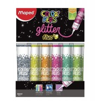 Adhesivo C/ Glitter Maped Fluo Verde  50ml Peps Color 812054