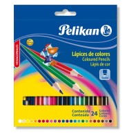 Lapiz Color Pelikan Largo X 24 Unida. Hexag. E/caja 010-012-225