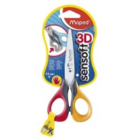 Tijera Escolar Maped Sensoft 3d  16  Cm Zurdos Blist 696510