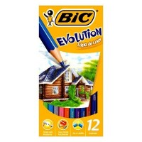 Lapiz Color Bic Evolution Largo X12 E/caja 938843