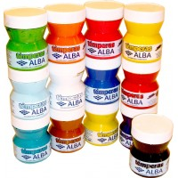 Tempera Alba Pote 200ml Verde Mediano 830052460