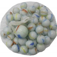 Bolitas Blancas + 1 Bolon  En Red X 50 Unidades ( 16 Mm ) Mp3592