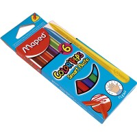 Crayones Plasticos  X  6 Color Peps Smart/maped.862010