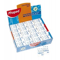 Goma P/lapiz X1 Maped Domino 60 Mini Emb.celofan .511260