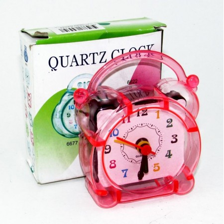 Reloj Despert.transparente Color Simil Campana 64535 Caja