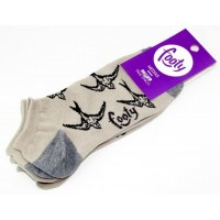 Soquete Invisible Pack X2 Unid Dama Animal Print Footy I18932/1.01 Unico
