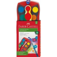 Acuarela Faber Connector 12 Colores C/paleta 6570