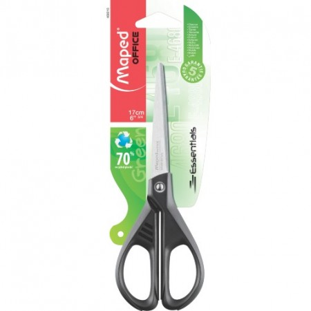 Tijera Essentials Green 17cm Maped Blister 468010
